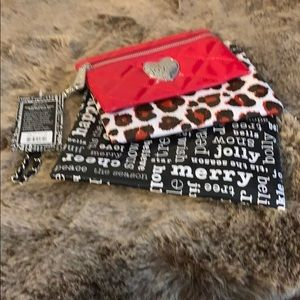 Brighton Christmas pouches (3) nwt